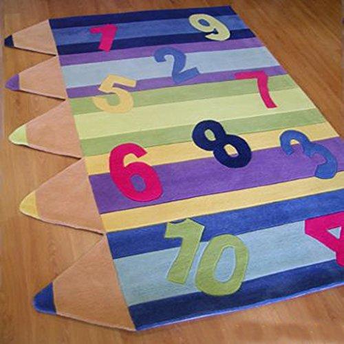 Cqq tapis chambre d'enfants Cartoon, tapis vivant table basse salle mode acrylique multi-modèle (taille : 140 × 200CM)