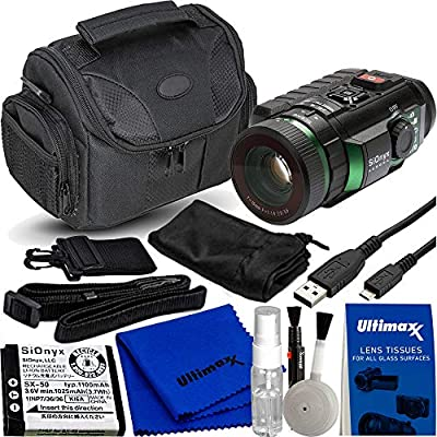 SiOnyx Aurora IR Night Vision Camera with Compass, GPS & Accelerometer with Water Resistant Carrying Case and Deluxe Cleaning Kit by SiOnyx