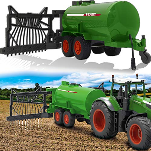 Fendt Traktor 1050 Vario ferngesteuert OFFIZIELL LIZENZIERT (1:16 2,4Ghz) RC Motorsound mit Sound Beleuchtung und verschiedenen Fahrfunktionen (Fasswagen)