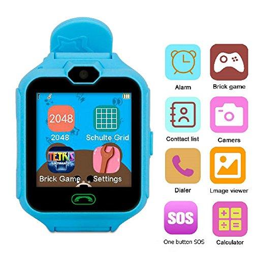 Hangang Teléfono Inteligente Juego Relojes para Niños,Kid Smartwatch Camara Juegos Táctil Pantalla Cool Juguetes Reloj Regalos para Niñas Niños Niños
