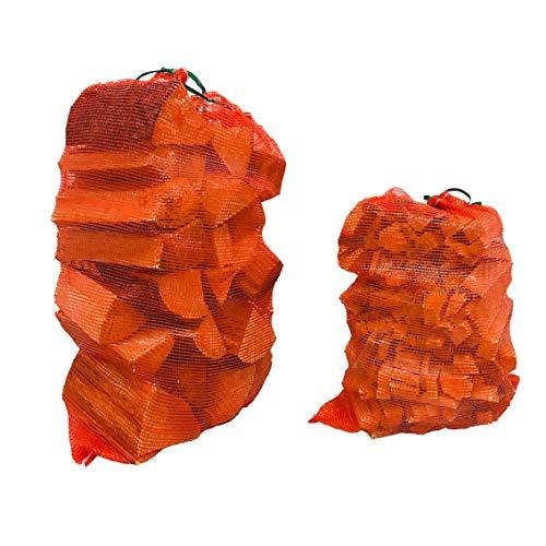 Forest Master Sacs à bûches en maille tissée solide Medium (50 x 63) Rouge