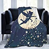 RGFK Ultra-Soft Throw Blanket,Tinkerbell and Fairy Flying Design Warm Blanket Bedspreads for Bedspread Coverlet Bed Cover 50 x 40 inch
