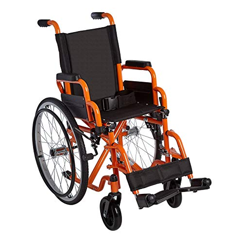 Circle Specialty, Ziggo,12' Pediatric Wheelchair for Kids, Teens, Young Adults | Lightweight, Manual Folding Wheelchair| w/Safety Belt Buckle |Swing-Away Foot Support w/Straps| Desk Length Arm Rests