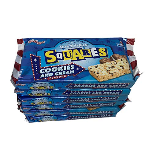 Rice Krispies Squares Cookies and Cream American Style 4 bars 136g (x6 Packs Total)