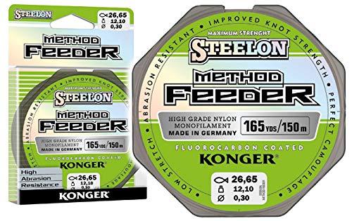 Konger – Filo da pesca Steelon Method Feeder Fluorocarbon rivestito monofilo bobina 150 m 0,18 – 0,30 mm Feeder metodo TOP!, 2571500, 0,25mm / 8,50kg