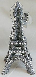 Silver Glitter Eiffel Tower Ornament