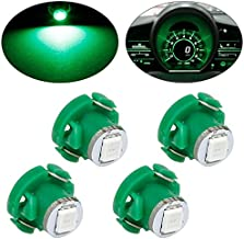 Partsam 4pcs 79674-S3N-941 T4.2 Neo Wedge Green LED Bulb Switch HVAV Lights A/C climate light