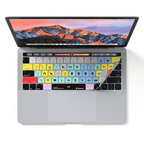 Adobe Premiere Pro CC Keyboard Cover Skin for Apple MacBook Pro Touch Bar 13' and 15' 2016-2019 ONLY will not fit 2020 models
