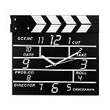 Zaoniy Large Retro Cinema Movie Slate Analog Wall Clock Clapper Film Modern Home.