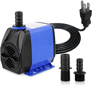 YCTECH 8W 158GPH Submersible Water Pump for Pond, Aquarium, Fish Tank Fountain Water Quiet Pump Hydroponics, with 2 Nozzles (45W 660GPH)