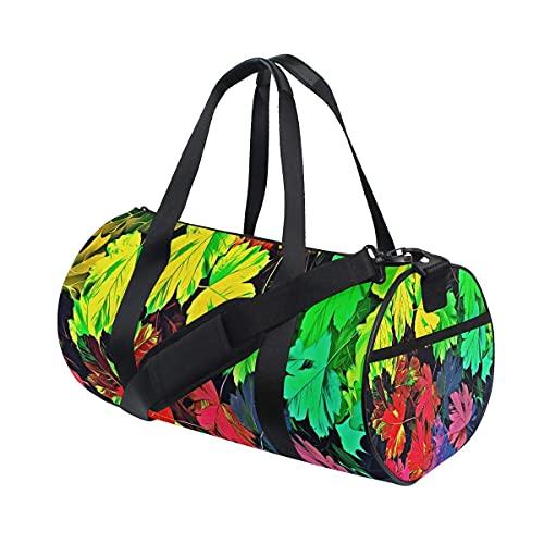 Borsone da palestra, sfondo multicolore, con grafica e scomparto per scarpe e tasca bagnata, per donne o uomini