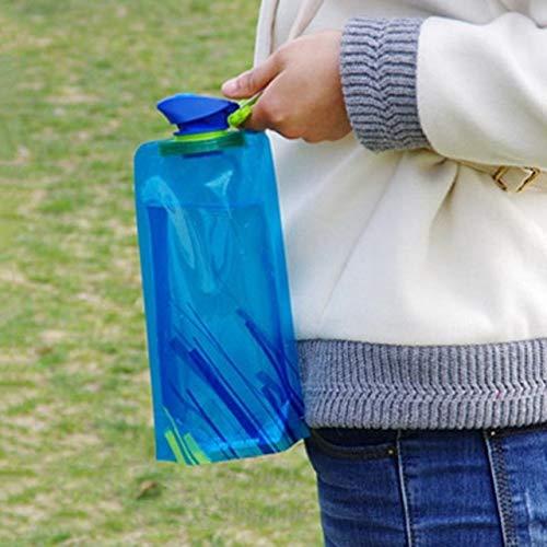 Bruce Dillon 700mL Reutilizable Deportivo Viaje portátil Plegable Plegable Botella de Agua...