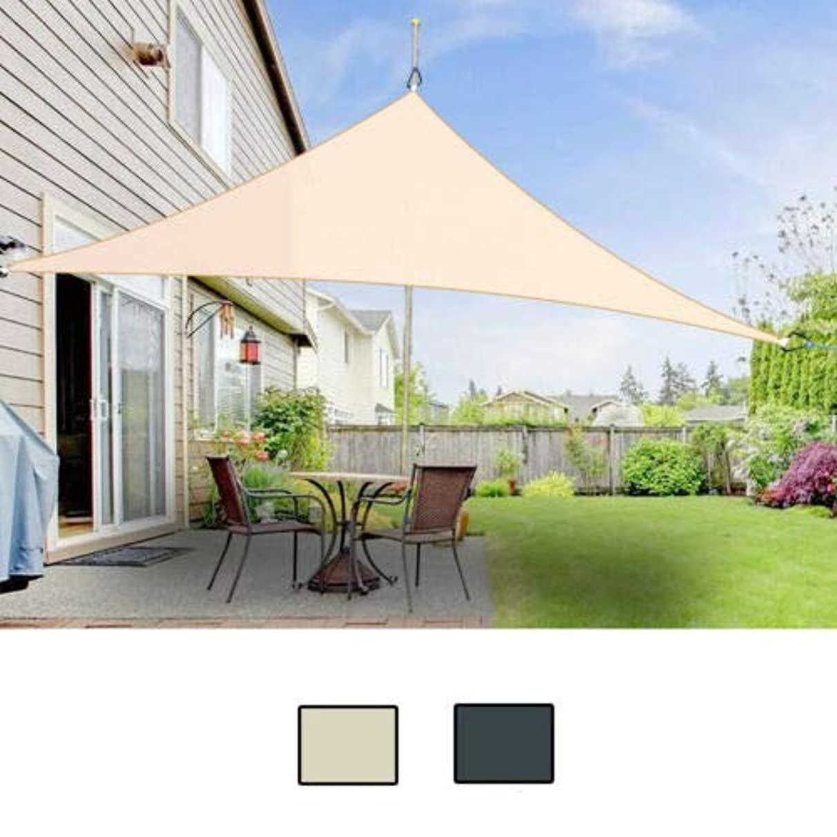 HEEGNPD Triangle 2x2x2m Waterproof Sun Shelter Sunshade Protection Outdoor Canopy Garden Patio Pool Shade Sail Awning Camping Tent Cloth irb471571