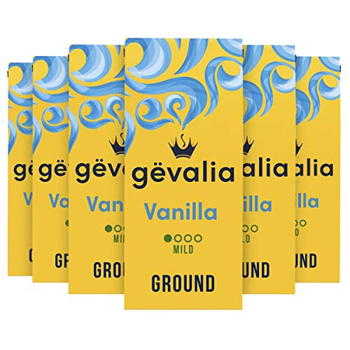 Gevalia Vanilla Flavored Mild Roast Ground Coffee (12 oz Bag, Pack of 6)
