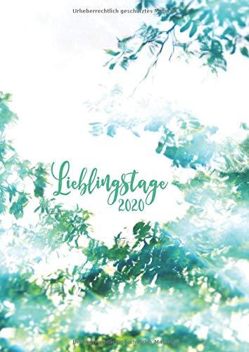 2020 Lieblingstage: großer TageBuch Kalender - DIN A4