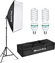 """MOUNTDOG 1350W عکاسی مداوم Softbox Lighting Kit 20 """"X28"""" حرفه ای عکس استودیو تجهیزات با 2pcs E27 سوکت 5500K لامپ ویدئو روشنایی برای فیلمبرداری پرتره شوت"""