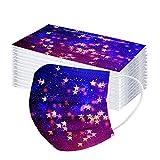 LINTONG 50Pc / 100Pc NiñOs Cielo Estrellado ImpresióN Tie-Dye Desechable FαCe Bufanda