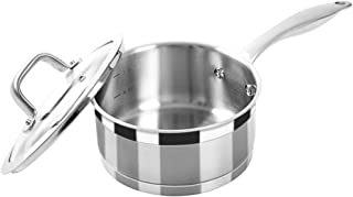 Duxtop Professional Stainless Steel Sauce Pan with Lid, Kitchen Cookware, Induction Pot..