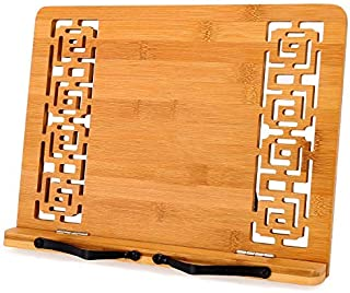 MEGREZ Bamboo Foldable Book Stand (11 x 8.5 inch) Reading Frame Rest Holder Cookbook Cook Stand/Tablet PC Textbook/Music D...