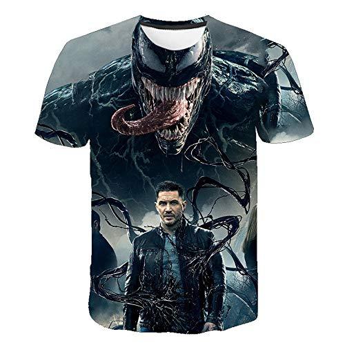 De volwassen kinderen T-shirt met korte mouwen - De Grappige Venom 3D gedrukte T-shirt - Soft Fashion Casual tops Summer Outdoor Sports Tees,H,M