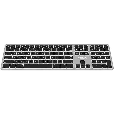 Kanex K166-1102 - Teclado inalámbrico de tamaño Completo Bluetooth para Mac y iOS, Color Negro