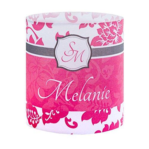 Tischkarte Windlicht Firenze Pink mit Druck: Platzkärtchen, Tischkärtchen, Tischdeko für Hochzeit, Geburtstag, Taufe, Kommunion
