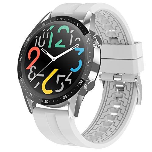 XINGLEI [Nuevos Modelos en 2021] Reloj Inteligente de Salud, Pantalla de monitoreo de sueño de frecuencia cardíaca de Llamada Bluetooth de círculo Completo Tiene una Vista Brillante y vívida
