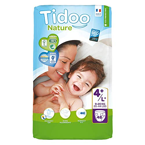 Tidoo - 503891 - Couches de Premier Age - Night & Day Nappes - Taille 4+ - Maxi+ 9-20 kg - Mixte