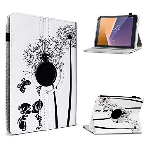 UC-Express Tablet Hülle kompatibel für Vodafone Tab Prime 6/7 Schutzhülle aus Kunstleder Tasche mit Standfunktion 360° drehbar Universal Cover Hülle, Farben:Motiv 7