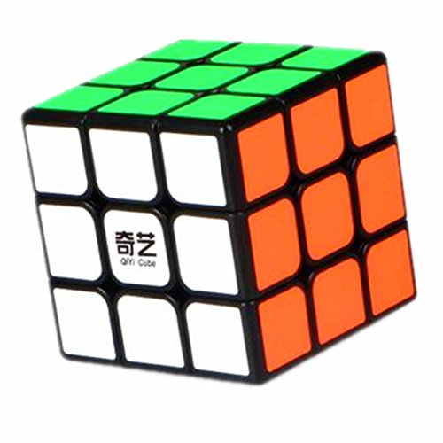 cuberspeed QiYi Super Big Sail 3x3 Black 6.8cm Magic Cube Mo Fang Ge Big Qihang 3x3x3 Speed Cube Qiyi Sail 3x3x3 Puzzle