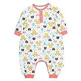 Baby tragbare Decke, atmungsaktiv, Wickel-Schlafanzug, 100% Bio-Baumwolle, Schlafsack, tragbare Decke, Baby-Schlafanzug, Swaddle Übergangs-Schlafsack (Kinder Höhe 130 cm, Fuchs)