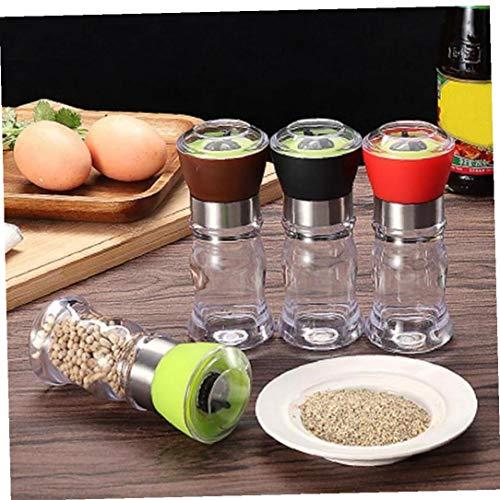 Byfri Botellas Pepper Grinder Cocina de molienda Molino de Pimienta de la Sal Molinillo de Pimienta amoladoras de la coctelera de la Especia de contenedores condimento condimentos