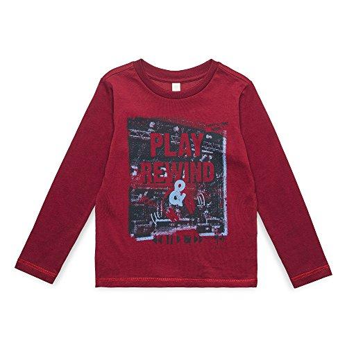 ESPRIT KIDS ESPRIT KIDS Jungen RM1002407 T-Shirt, Rot (Bordeaux 390), (Herstellergröße: 104+)