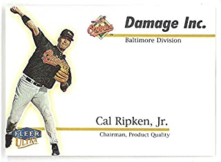 1999 Ultra Cal Ripken Jr Damage Inc Rare Insert 1:72 Packs Beckett Value $30 Card #3 Baseball Baltimore Orioles