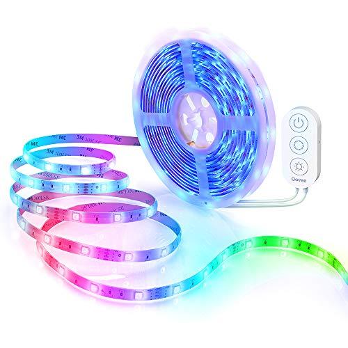 WiFi Tiras LED 5M Alexa, Govee Luz de Tira LED Smart 5050 Control APP, Sync con Música, Luces LED Funciona con Alexa, Google Home,Luces decorativas, EU Adaptador