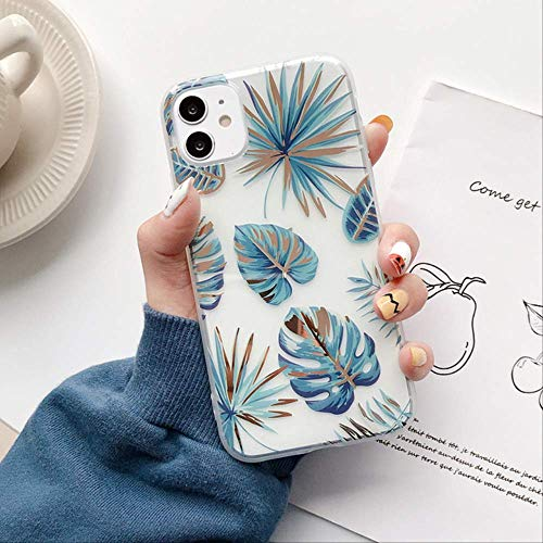 SSICA Leaf Flower Phone Case For iPhone 11 Pro Max X XR XS Max Hollow Plating IMD Case For iPhone 7 8 Plus Back Cover Fundas For iPhone 7 Plus T1