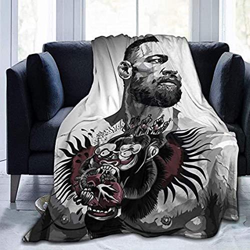 HUA JIE Con-Or Mc-Gre-Gor Ultraweiche Micro-Fleece-Decke für Wohnzimmer, Schlafzimmer, Sofa 1
