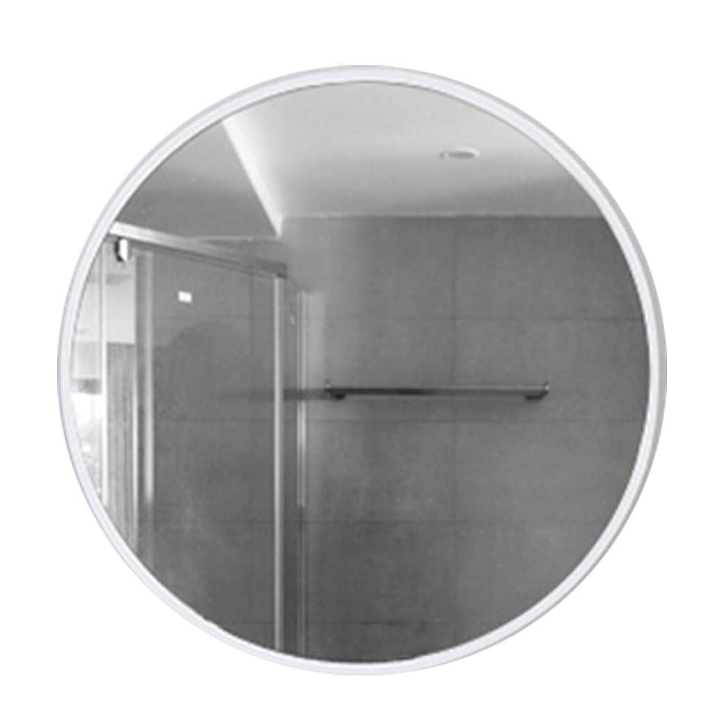 事務所ゼロ遺伝子壁掛けラウンドミラーメタルフレームHD化粧鏡化粧台ミラーシェービングミラーシルバーガラスバッキングパネルホワイト