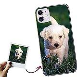 Funda para iPhone 11 Personalizada para tu móvil con Foto Imagen o Texto, Carcasa Personalizable, Gel Flexible, Trasparente, Regalo Original