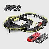 GAOO 4.1M Track Racing Car Racing Set Vehículo Playsets Rail Car Slot Car Niños Juguete Educativo Regalo De Cumpleaños De Navidad(Color:Eléctrico,Size:4 Cars)