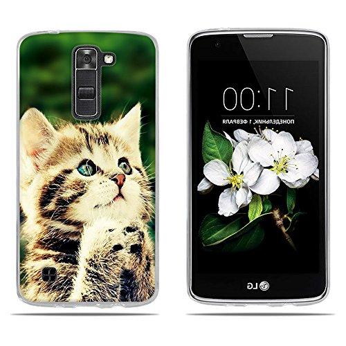 DIKAS für LG K7 / X210 / X210DS / für LG Tribute 5 LS675 Hülle, 3D Mode Transparente Silizium TPU Mode Matte TPU Vollkarosserie Schutz für LG K7 / X210 / X210DS / für LG Tribute 5 LS675- Pic: 10