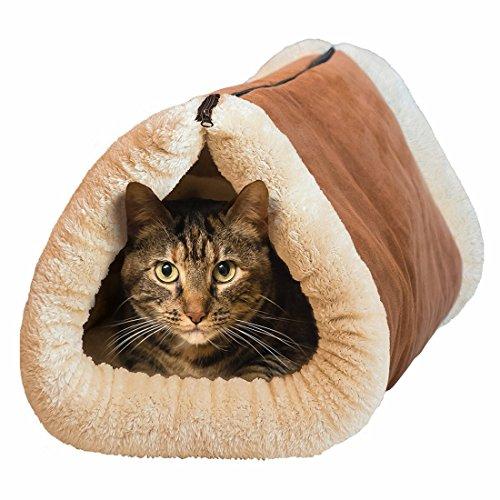 Mixse 2-in-1-Liegematte und -Kuschelhöhle für Katzen und Hundewelpen, mit selbstwärmender Unterlage