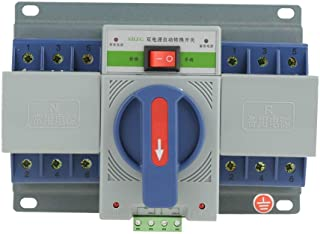 Hilitand 220V 63A Transfer Switch Mini Dual Electronic Power Automatic Circuit Breaker (3P)