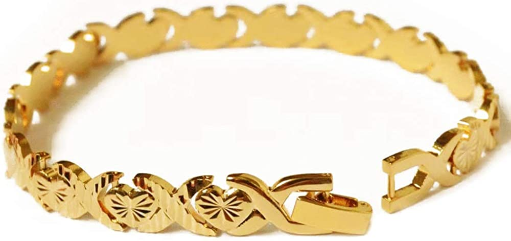 LVYE 18K Gold Plated Chain Forever Quantity limited Heart Love Designs Bracelet Oakland Mall