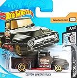 Hot.Wheels Custom '56 Ford Truck - Camión (escala 1:64), color negro mate