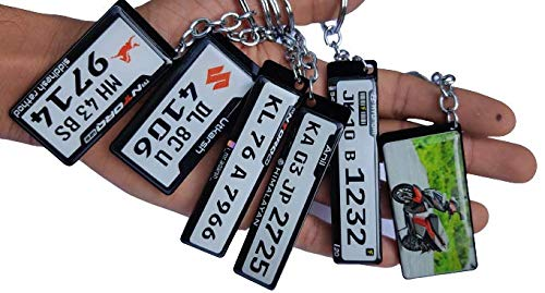 Binfas creation's Customized Number Plate Keychain for Car & Bike