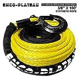 AlltoAuto AtA Enco-Plateau Synthetic Winch Rope with Hook, 3/8
