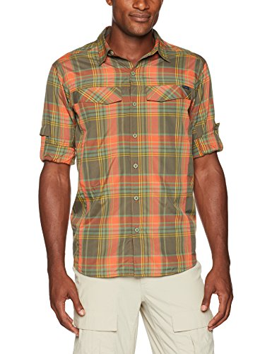 Columbia Herren, Herren, Silver Ridge™ Plaid Long Sleeve Shirt, Backcountry Orange Plaid, Large
