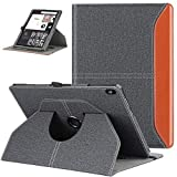ZtotopCase Funda para Lenovo Tab M10 HD 10,1 Pulgadas (TB-X505/TB-X605), Funda Protectora Elegante Puede Girar 360 ° con Función de Despertador/Sueño Auto para Lenovo Tab M10 HD 10.1, Denim Negro