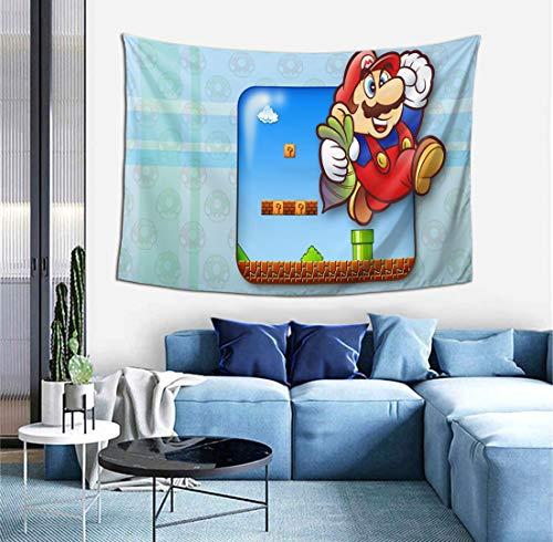 Super Mario Bros Tapestry, Tapestries Wall Hanging Decoration Wall Blanket Anime Tapestry Bedroom Home Wall Decor, Outdoor Tapestry 60 x 51 Inches